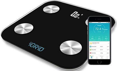 iGRiD Bluetooth Smart Body Fat BMI Scale