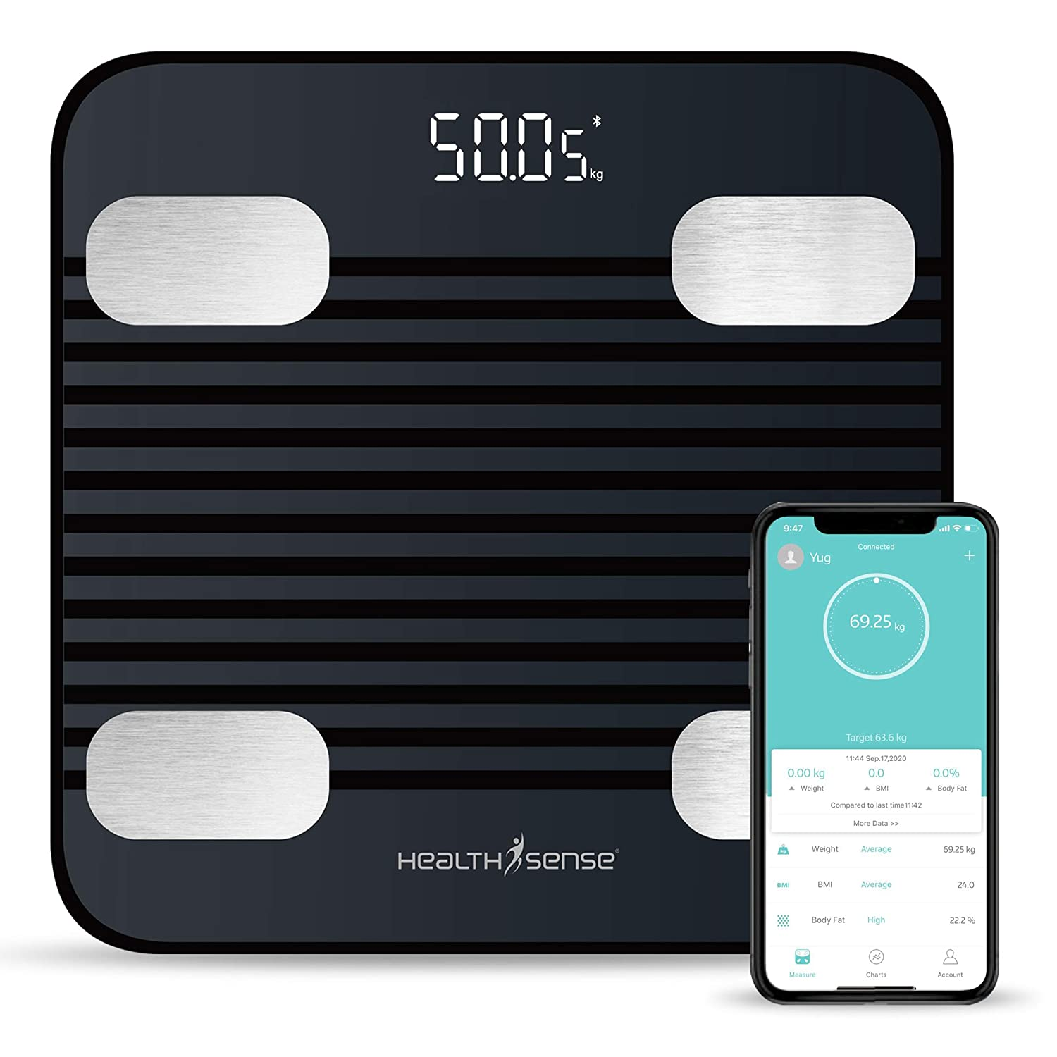 HealthSense Fitdays BS 171 Smart Bluetooth Body Weighing Scale