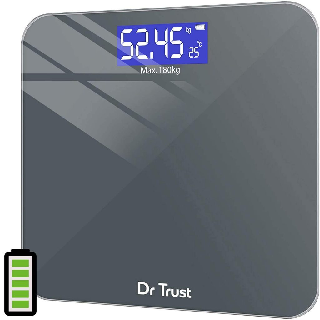 Dr Trust Electronic Platinum Rechargeable Digital Personal Weighing Scale for Human Body with Temperature Display