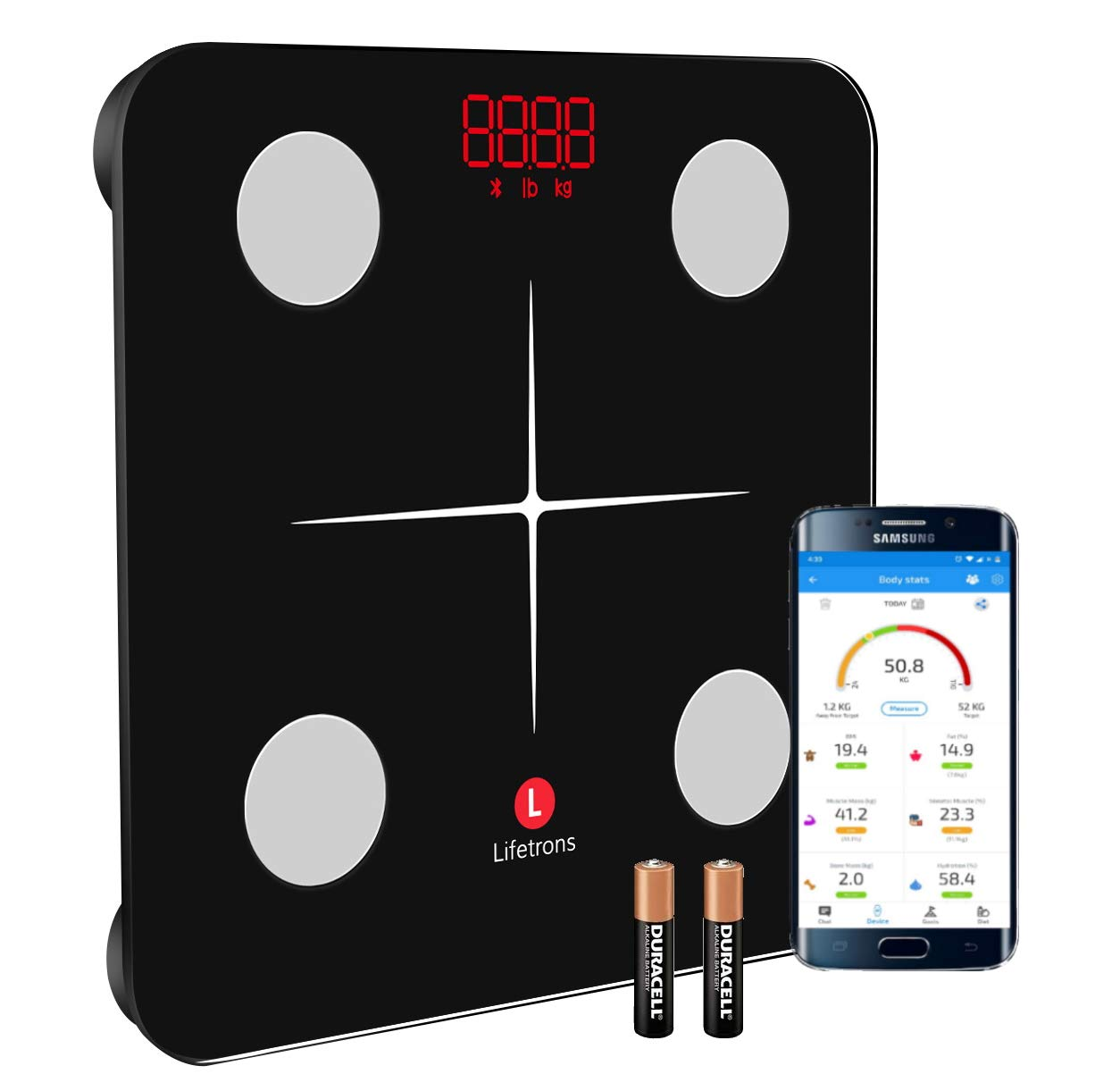 Lifetrons (Slinky Lite) Smart Body Composition Digital Weighing Scale
