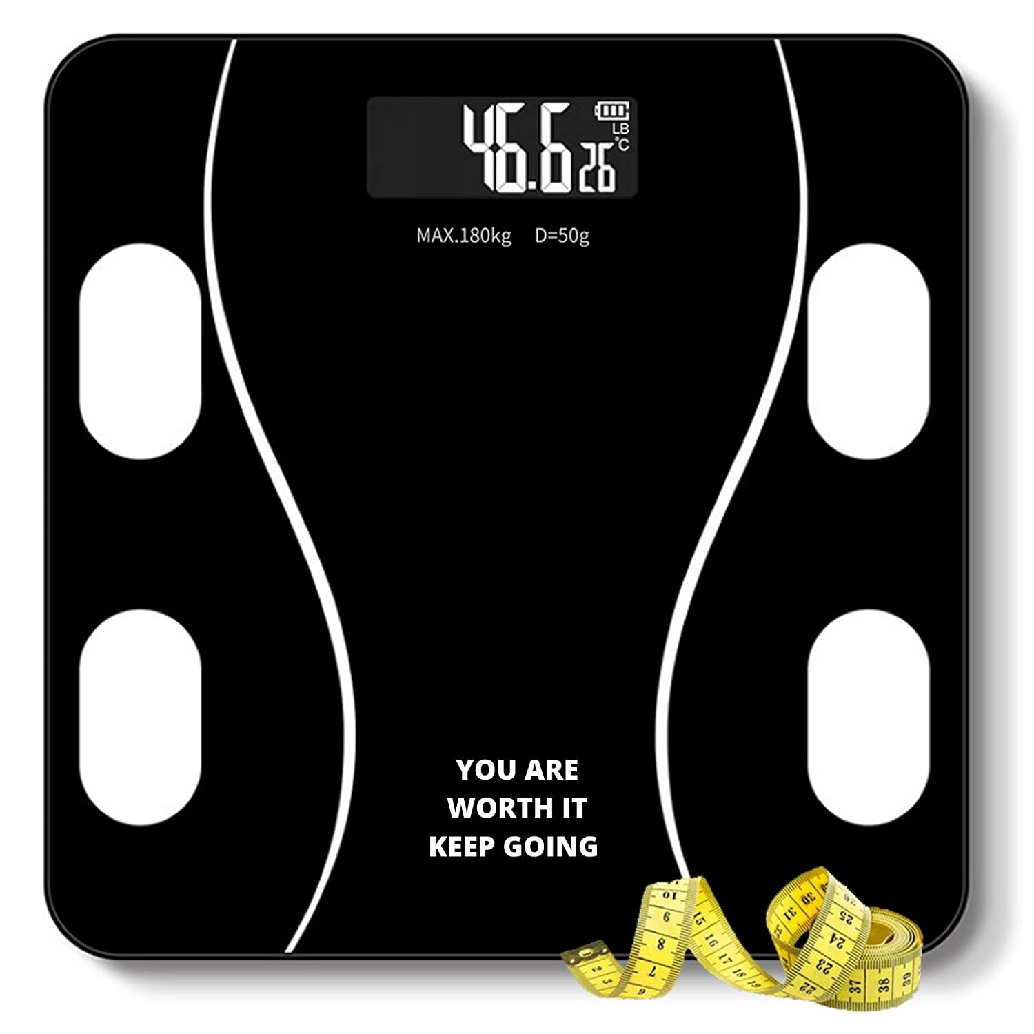 QUARK MART- India Heavy Thick Tempered Glass Lcd Display Weighing Machine